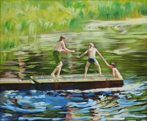 Petra Kaminen Mosher - Kolme poikaa joen rannalla