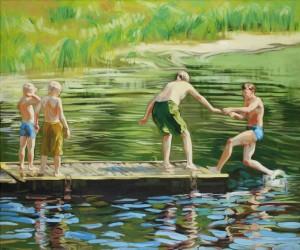 Petra Kaminen Mosher - Neljä poikaa joen rannalla