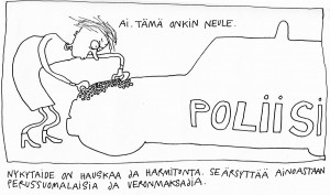 Riitta Uusitalo - Tipu Laitinen sarjakuva originaaleja