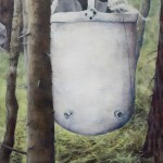 Sarjasta Välskärin(kertomattomat)kertomukset#19.amerikkalainen-vesisäiliö-akryylijaöljykankaalle-110x110cm