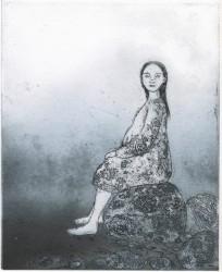 Eeva Louhio - Tyttö kivellä